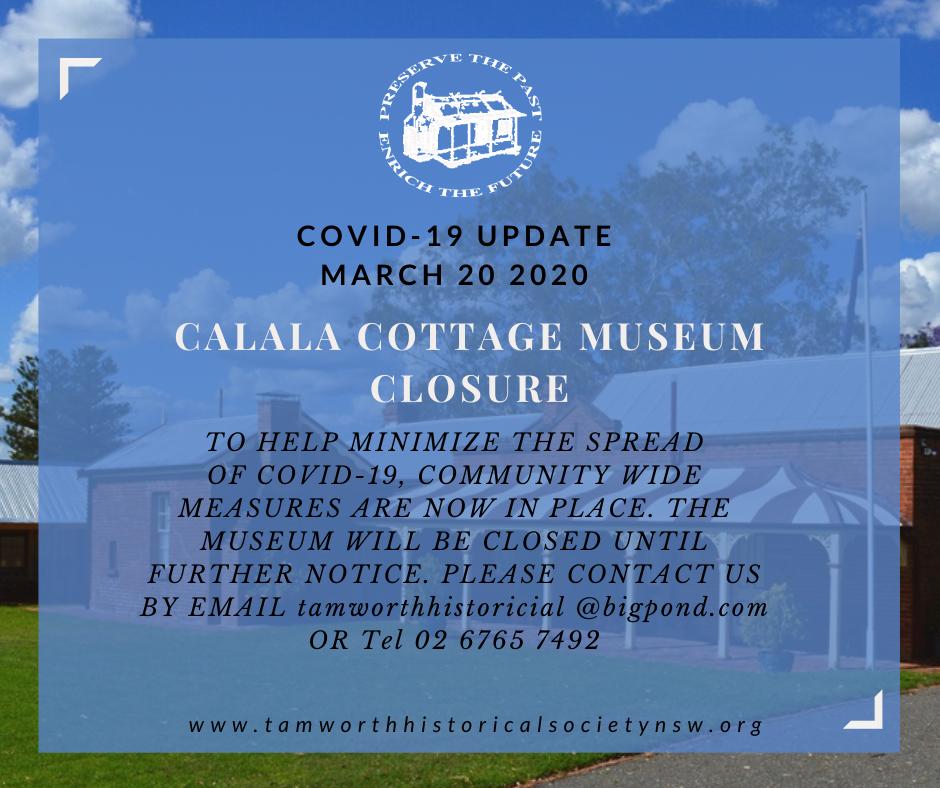 Museum closure COVID-19 March 20 2020